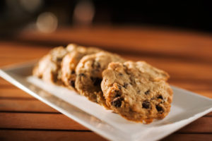 chocolate chip cookies on a plate