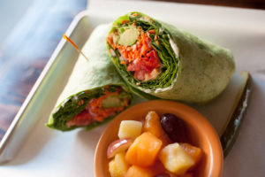 Wrap with fruit salad